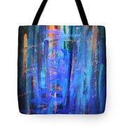 Blue Impression Tote Bag