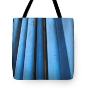 Blue Industrial Pipes Tote Bag
