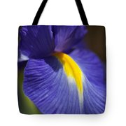 Blue Iris With Yellow Tote Bag