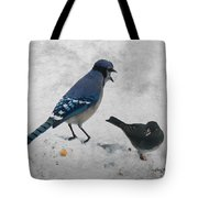 Blue Jay And Junco Tote Bag