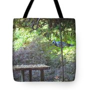 Blue Jay At Lunch Tote Bag