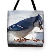 Blue Jay Chow-down Tote Bag