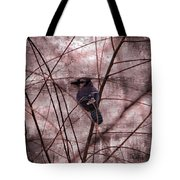 Blue Jay In The Willow Tote Bag