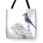 Blue Jay On An Angel Tote Bag