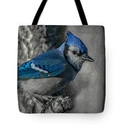 Blue Jay Painterly Tote Bag