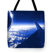 Blue Jet Pop Art Plane Tote Bag