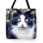 Blue Kitty Two Tote Bag