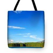 Blue Lake And Green Hills Tote Bag