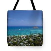 Blue Lanikai Overview Tote Bag