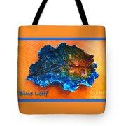 Blue Leaf Ceramic Design 3 Tote Bag