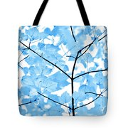 Blue Leaves Melody Tote Bag