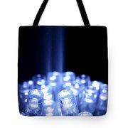 Blue Led Lights With Light Beam Tote Bag
