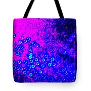 Blue Light Spheres Abstract Tote Bag