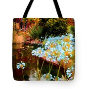 Blue Lily Water Garden Tote Bag