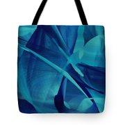 Blue Linear Mesh No 1 Tote Bag