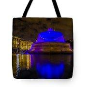 Blue London Fountain Tote Bag