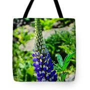 Blue Lupins Tote Bag