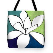 Blue Magnolia 1- Floral Art Tote Bag