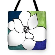 Blue Magnolia 2- Floral Art Tote Bag