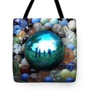 Magic Blue Marble Tote Bag