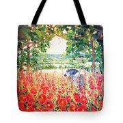 Blue Mare's English Summer Garden Tote Bag