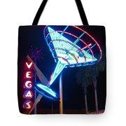 Blue Martini Glass Las Vegas Tote Bag