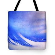 Blue Marvel. Lighten Your Day With Music Tote Bag