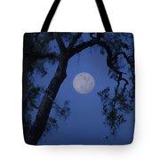 Blue Moon Horse And Oak Tree Tote Bag