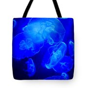 Blue Moon Jellies Tote Bag by Karon Melillo DeVega