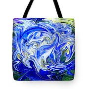 Blue Mophead Hydrangea Abstract Tote Bag