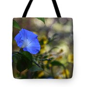 Blue Morning Glories Tote Bag by Linda Unger