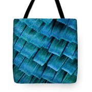 Blue Morpho Wing Scales Tote Bag