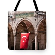 Blue Mosque Courtyard Portico Tote Bag