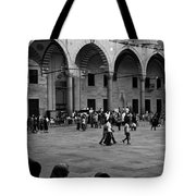 Blue Mosque Courtyard Tote Bag