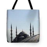 Blue Mosque Dome Behind Hagia Sophia Dome Tote Bag