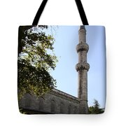 Blue Mosque Minaret Tote Bag