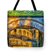 Blue Mosque Painting Tote Bag