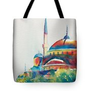 Blue Mosque Sun Kissed Domes Tote Bag
