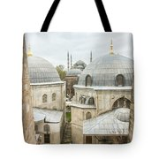 Blue Mosque View From Hagia Sophia Tote Bag