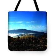 Blue Mountain Landscape Umbria Italy Tote Bag