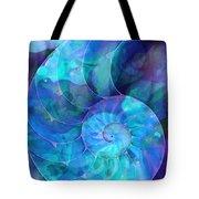 Blue Nautilus Shell By Sharon Cummings Tote Bag
