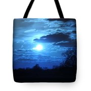 Blue Night Light Tote Bag