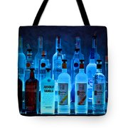 Blue Night Shadows Tote Bag