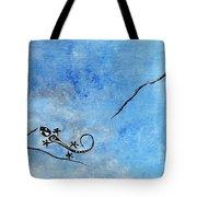 Blue Nile Lizard Tote Bag