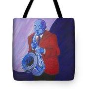 Blue Note Tote Bag by Dwayne Glapion