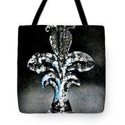 Blue On Black Tote Bag