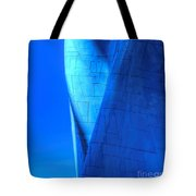 Blue On Blue Cropped Version Tote Bag