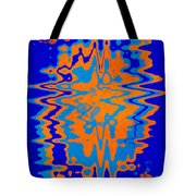 Blue Orange Abstract Tote Bag