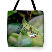 Blue Orbweaver Tote Bag