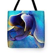 Blue Orchid Macro Tote Bag